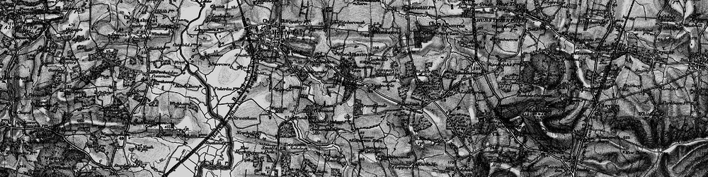 Old map of Woodmancote Place in 1895