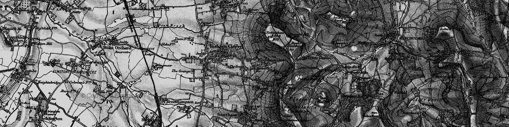 Old map of Woodmancote in 1896