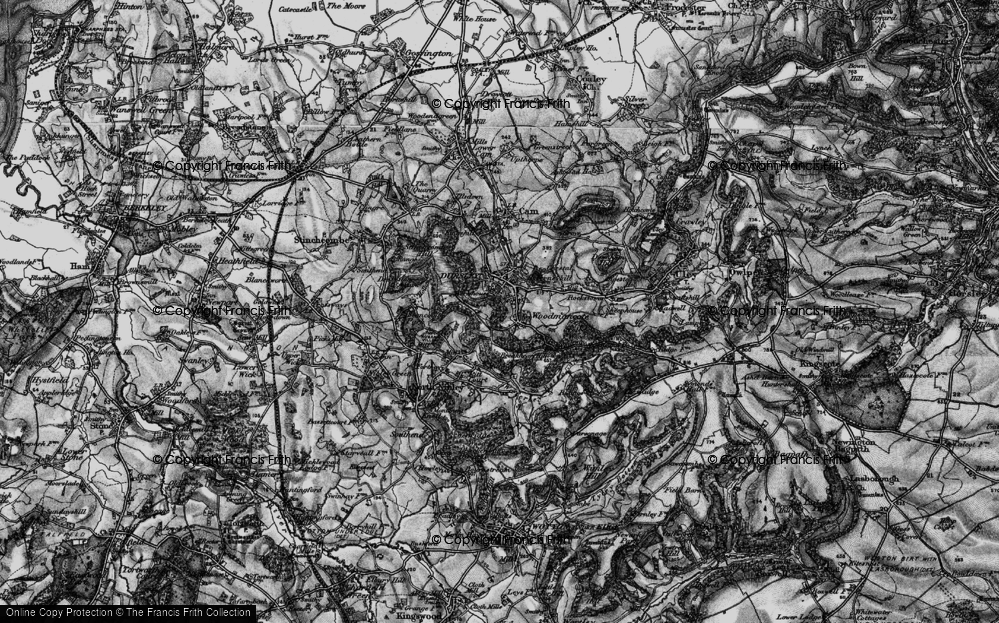 Old Map of Woodmancote, 1897 in 1897