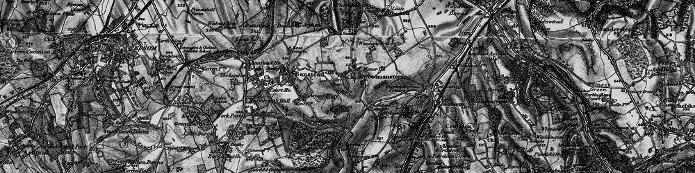 Old map of Woodmansterne in 1896