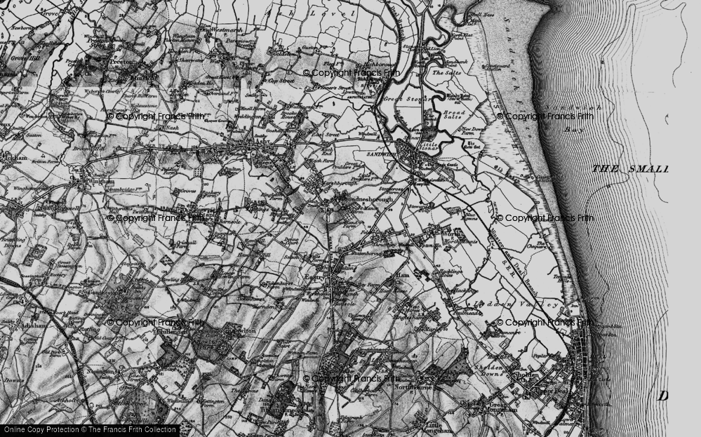 Old Map of Woodnesborough, 1895 in 1895
