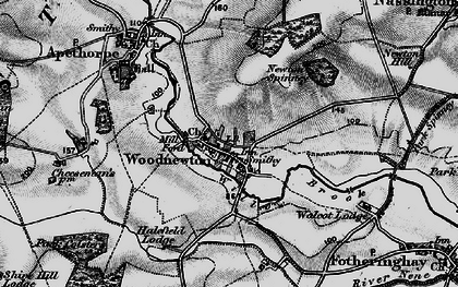 Old map of Woodnewton in 1898
