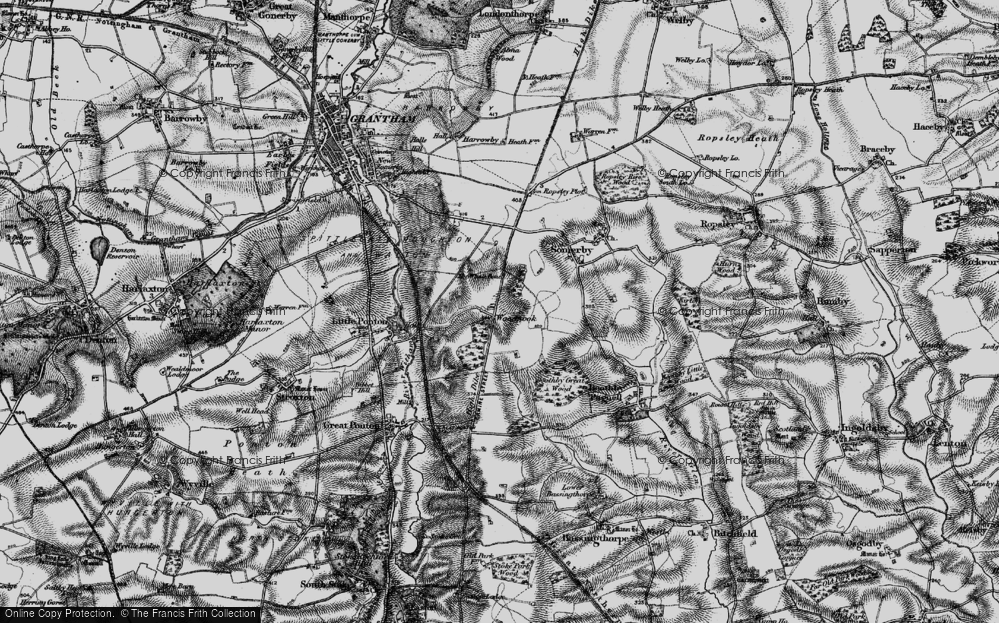 Old Map of Woodnook, 1895 in 1895