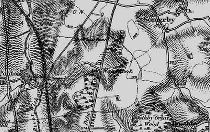 Old map of Woodnook in 1895