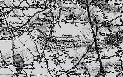 Old map of Woodplumpton in 1896