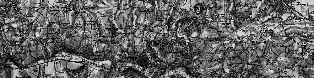 Old map of Adcombe Hill in 1898
