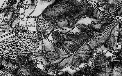 Old map of Woodrow in 1896