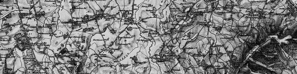 Old map of Woodrow in 1898