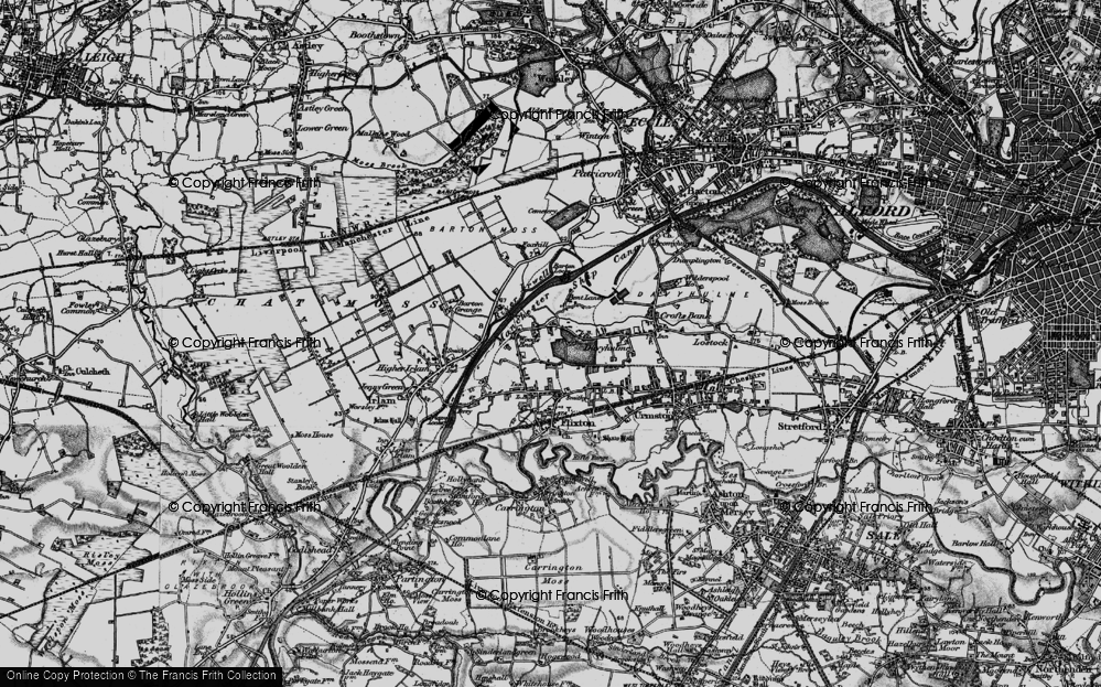 Old Map of Woods End, 1896 in 1896