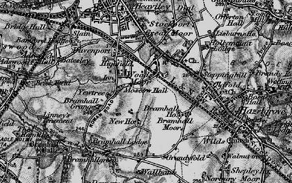 Old map of Woods Moor in 1896