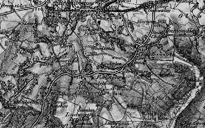Old map of Woodseats in 1896
