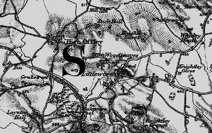Old map of Woodseaves in 1897