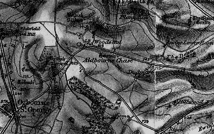 Old map of Aldbourne Chase Ho in 1898