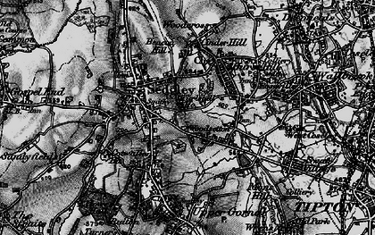 Old map of Woodsetton in 1899