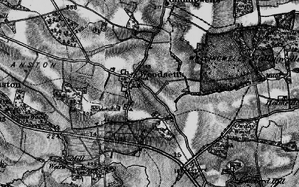 Old map of Woodsetts in 1899