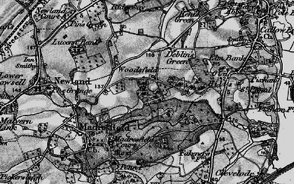 Old map of Woodsfield in 1898