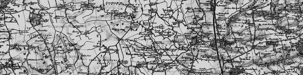 Old map of Woodsfold in 1896