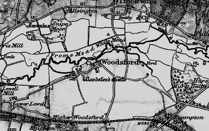 Old map of Woodsford in 1897