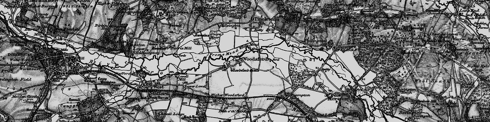 Old map of White Mead in 1897