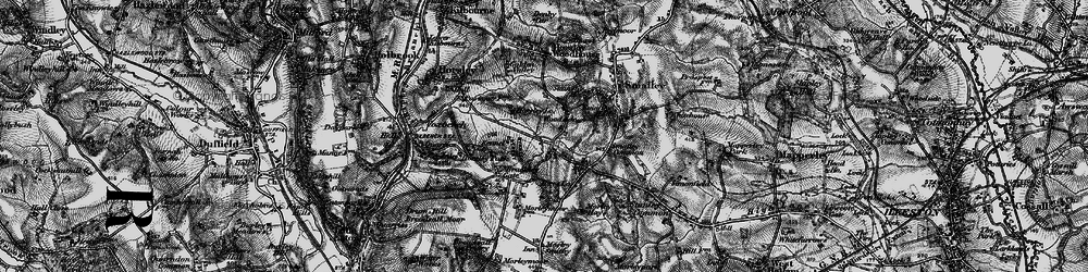 Old map of Woodside in 1895