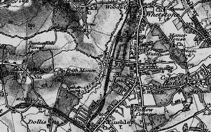 Old map of Woodside Park in 1896