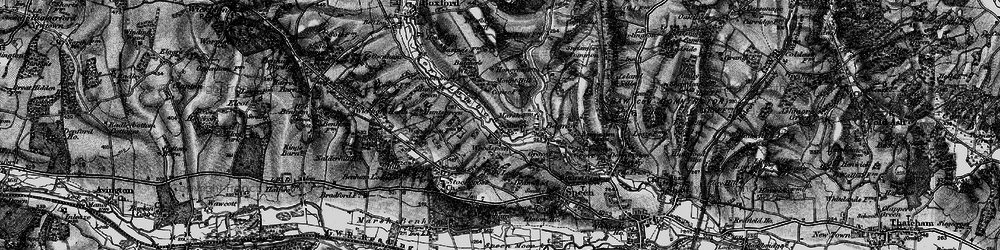 Old map of Woodspeen in 1895