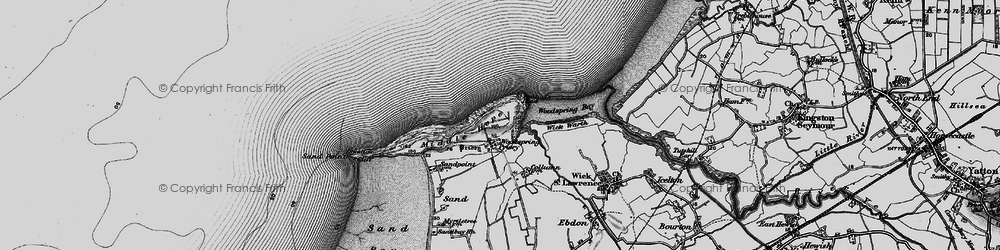Old map of Wick Warth in 1898