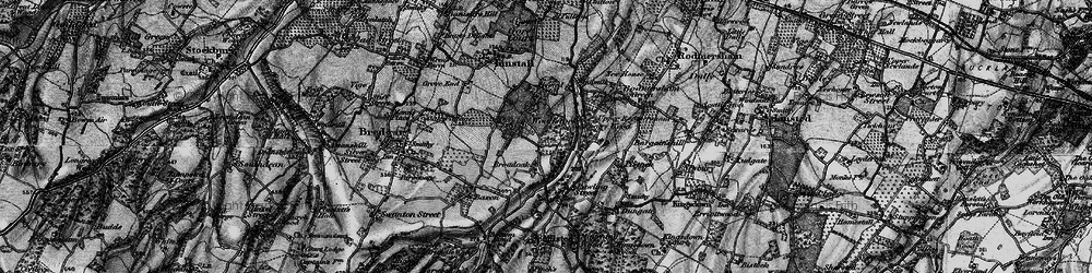Old map of Woodstock in 1895