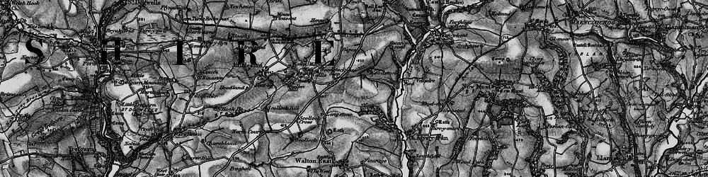 Old map of Woodstock Cross in 1898