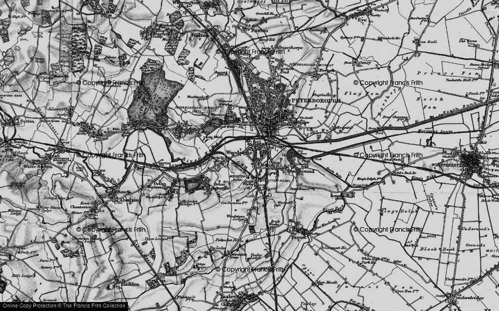 Old Map of Woodston, 1898 in 1898