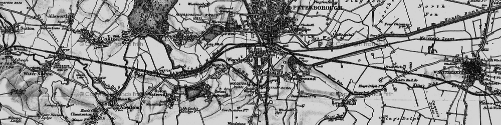 Old map of Woodston in 1898