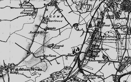 Old map of Askham Bogs in 1898