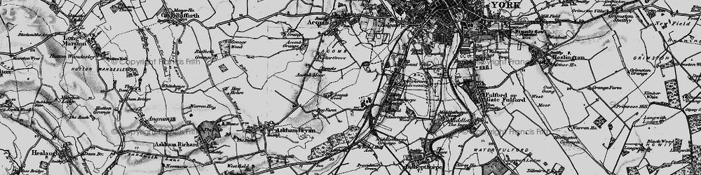 Old map of Woodthorpe in 1898