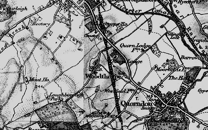 Old map of Whatoff Lodge in 1899