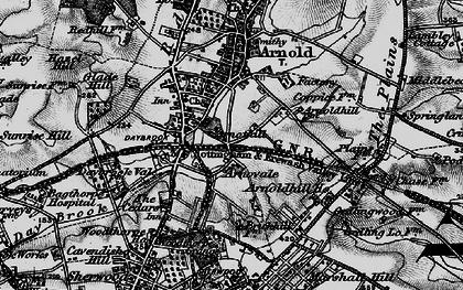Old map of Woodthorpe in 1899