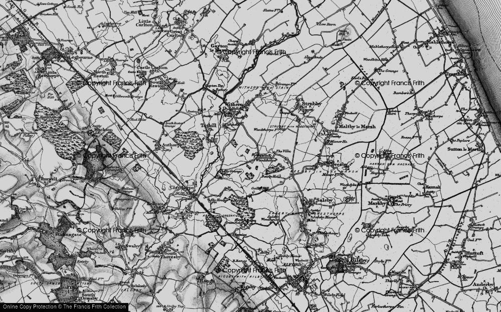 Old Map of Woodthorpe, 1899 in 1899