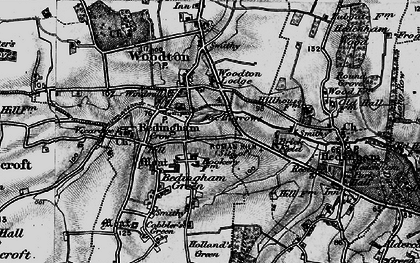 Old map of Woodton Lodge in 1898