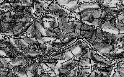 Old map of Woodtown in 1895