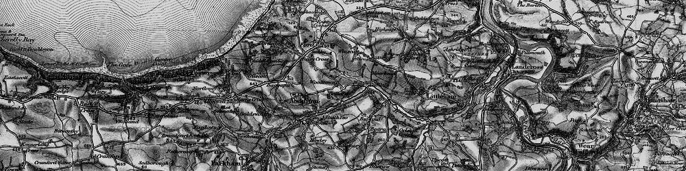 Old map of Winscott Barton in 1895