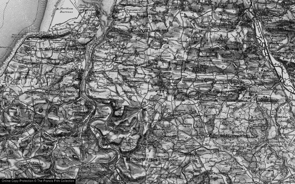Old Map of Historic Map covering Ashridge in 1895