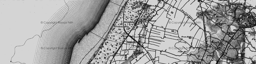 Old map of Woodvale in 1896
