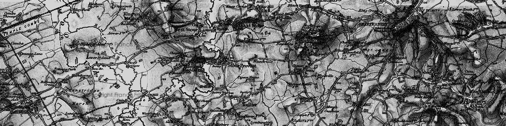 Old map of Woodville in 1898