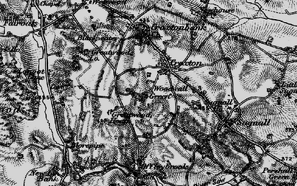 Old map of Woodwall Green in 1897