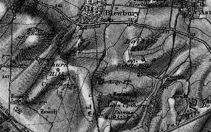 Old map of Langdon Hill in 1895