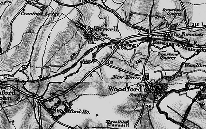 Old map of Woodford Ho in 1898