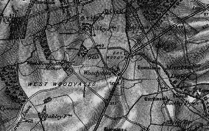 Old map of Woodyates in 1895