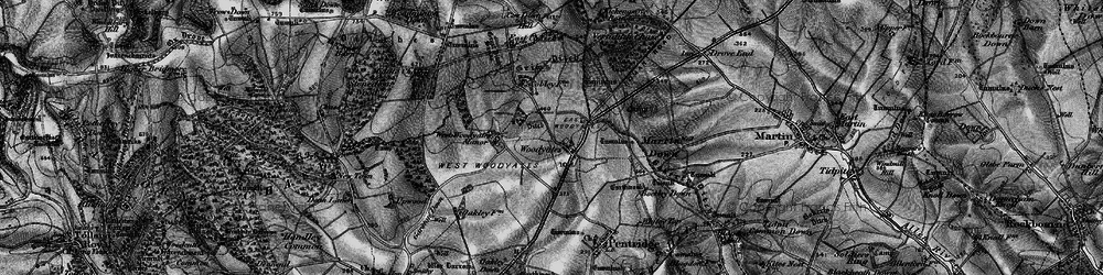 Old map of West Woodyates Manor in 1895