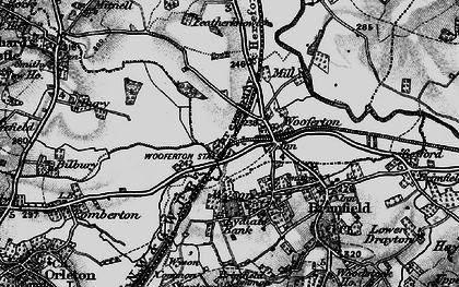 Old map of Woofferton in 1899