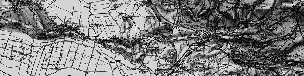 Old map of Wookey in 1898