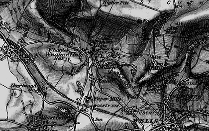 Old map of Wookey Hole in 1898